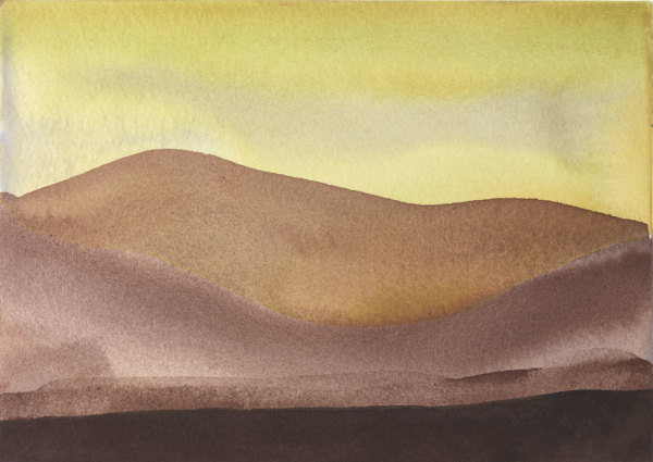 Landscape 8 2006-2010 watercolour and gouache on paper 14 x 20.6 cm (paper size); 43 x 57 cm (framed size)